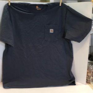 Men's Carhartt T-shirt navy blue XL Crew Neck